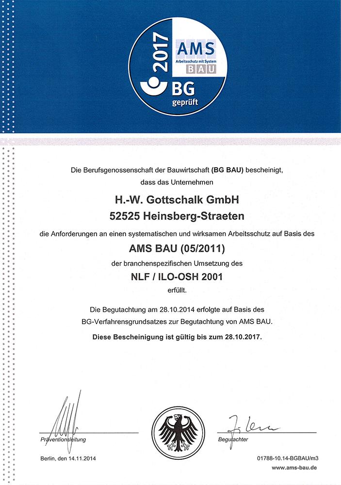 gottschalk-BG-zertifikat